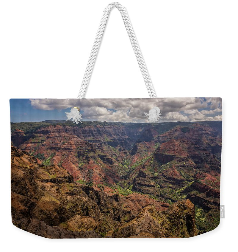 Waimea Canyon Landscape Kauai Hawaii Weekender Tote Bag featuring the photograph Waimea Canyon 7 - Kauai Hawaii by Brian Harig