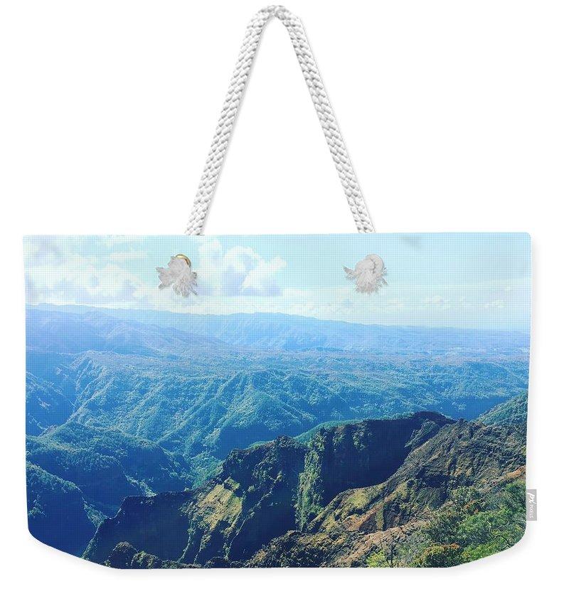 Kauai Weekender Tote Bag featuring the photograph Waimea Canyon, Kauai by Hilary Hahn