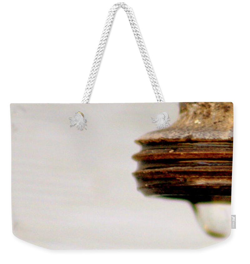 Faucet Weekender Tote Bag featuring the photograph Wait For It by Jennifer Diaz