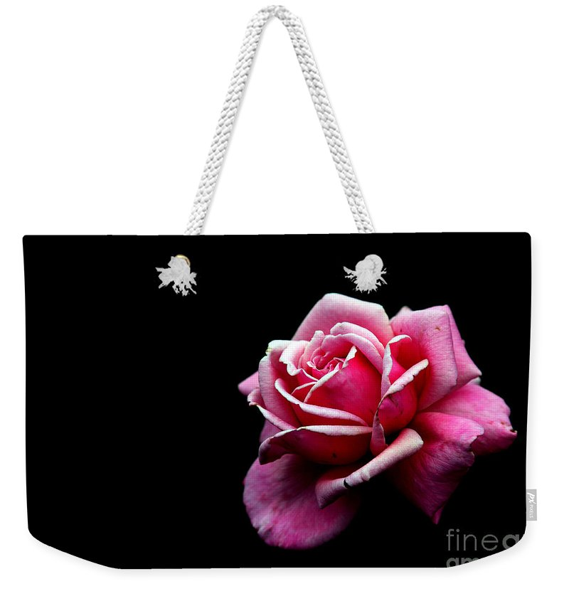 Rose Weekender Tote Bag featuring the photograph Waiting by Amanda Barcon