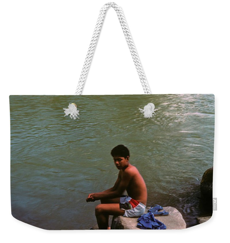 Belize Weekender Tote Bag featuring the photograph Waiting For A Fish by Gary Wonning