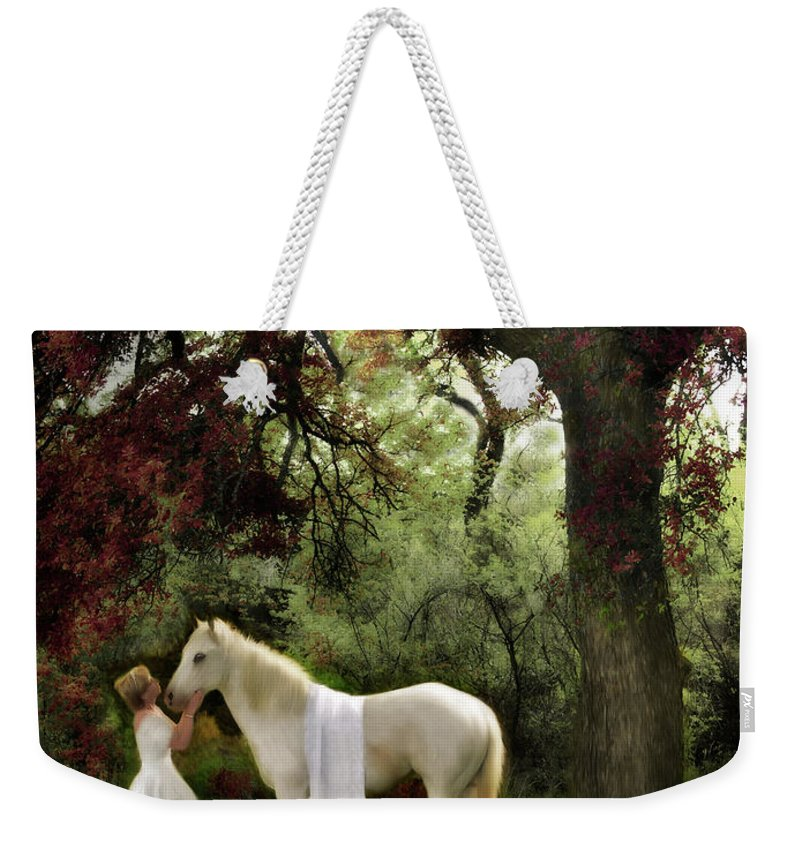 Bride Of Christ Art Weekender Tote Bag featuring the painting Waiting For My Prince by Constance Woods