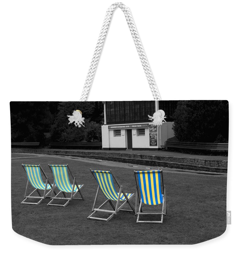 Deckchair Weekender Tote Bag featuring the photograph Waiting For The Band by Chris Day