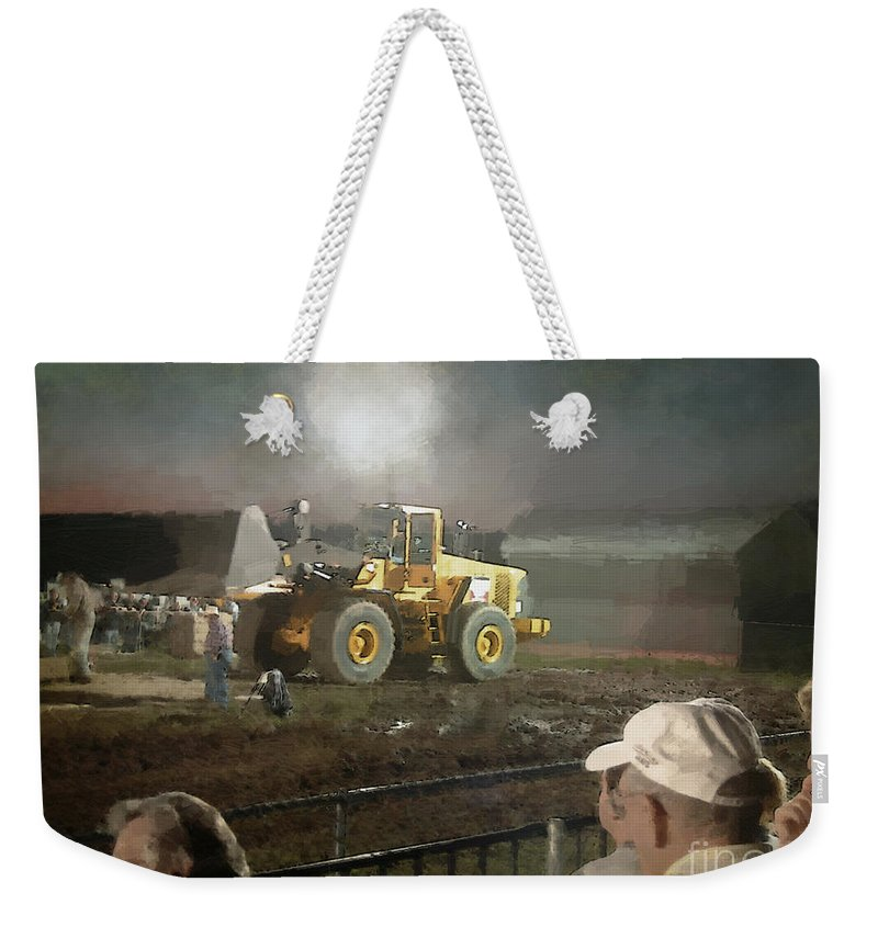 Americana Weekender Tote Bag featuring the painting Waiting For The Pull by RC DeWinter