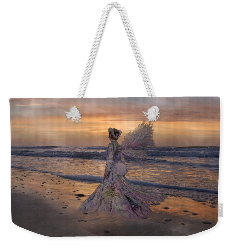 Topsail Weekender Tote Bag featuring the digital art Waiting For The Sun by Betsy Knapp