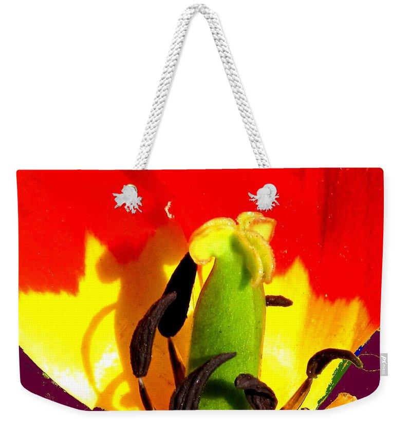 Abstract Weekender Tote Bag featuring the photograph Waiting by Ian MacDonald