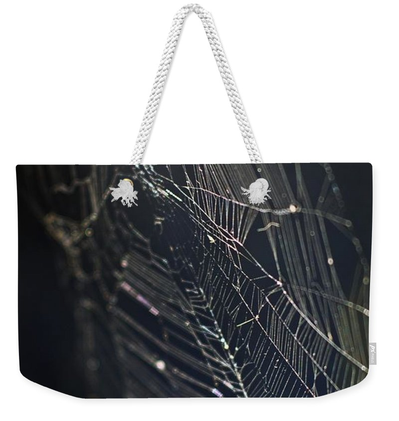 Spider Webs Weekender Tote Bag featuring the photograph Waiting... by Norman Andrus