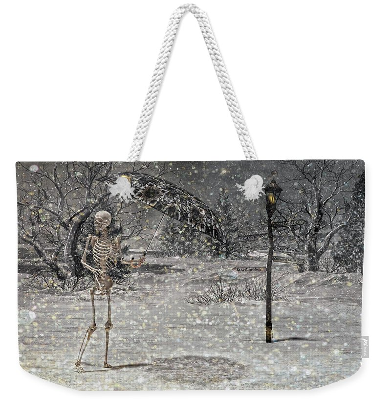 Sciart Weekender Tote Bag featuring the digital art Waiting On A Friend by Betsy Knapp