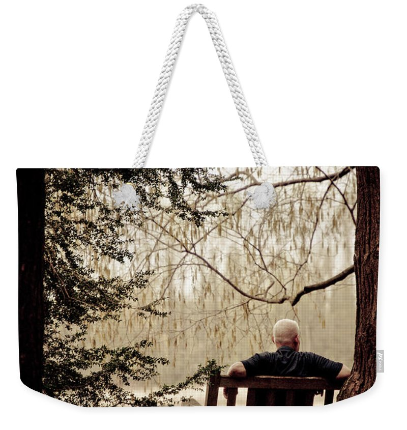 Man Weekender Tote Bag featuring the photograph Waiting On A Friend by Trish Tritz