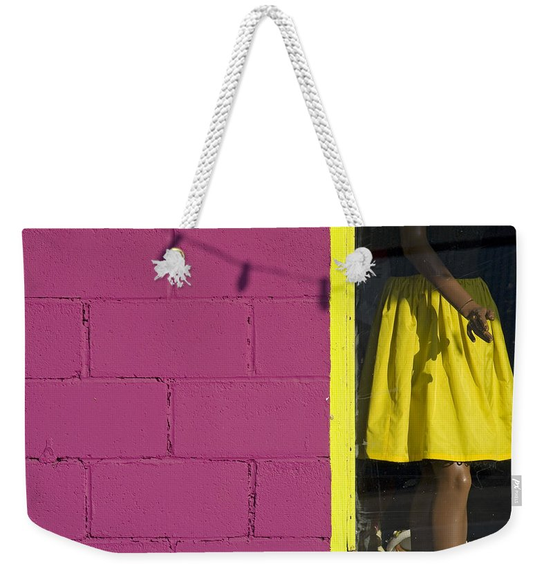 Woman Weekender Tote Bag featuring the photograph Waiting by Skip Hunt