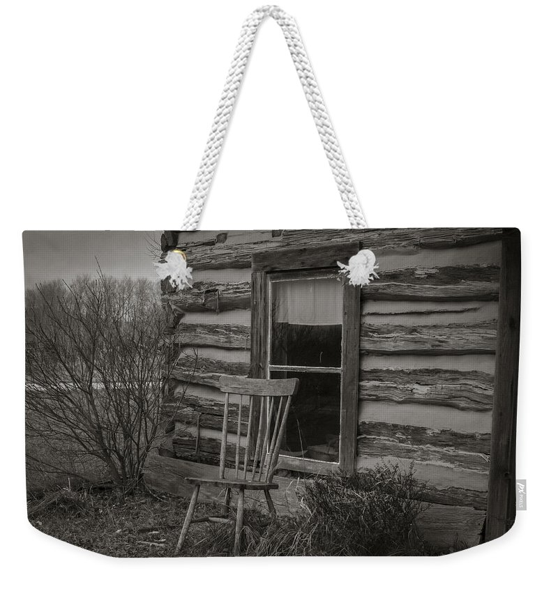 Chair Weekender Tote Bag featuring the photograph Waiting by Steve L'Italien