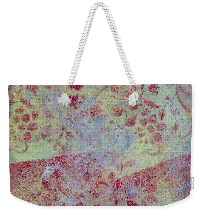 Abstract Weekender Tote Bag featuring the painting Waiting To Go by Hew Wilson