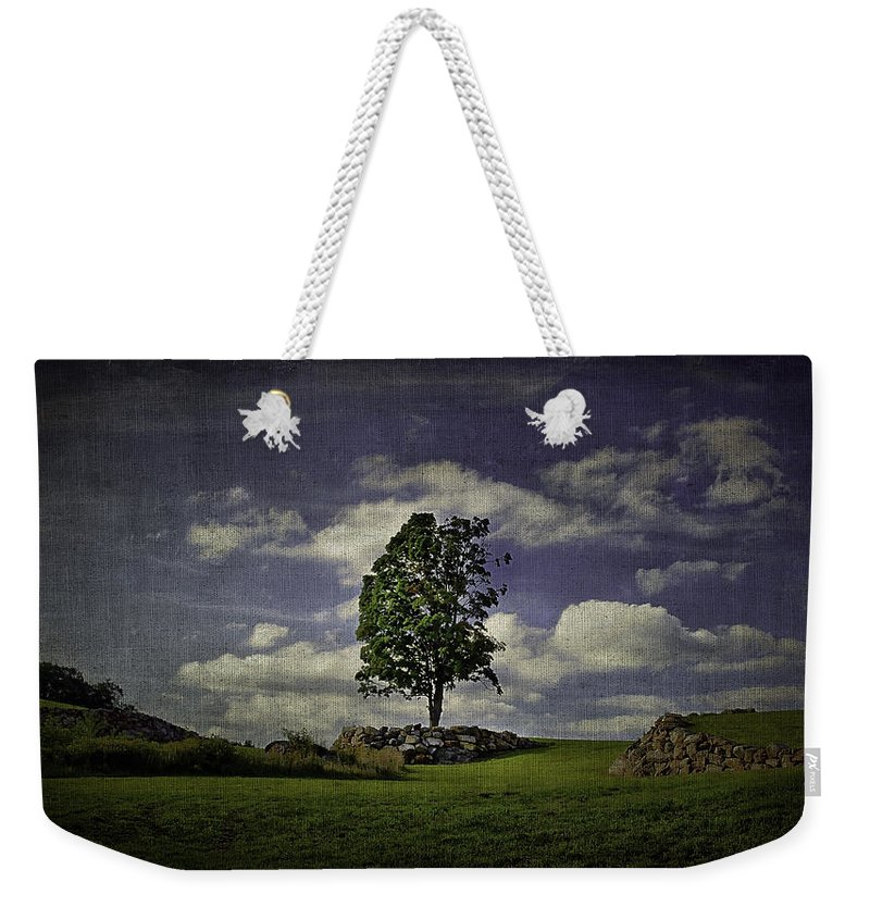 Cloud Weekender Tote Bag featuring the photograph Wake Me Up When September Ends by Evelina Kremsdorf