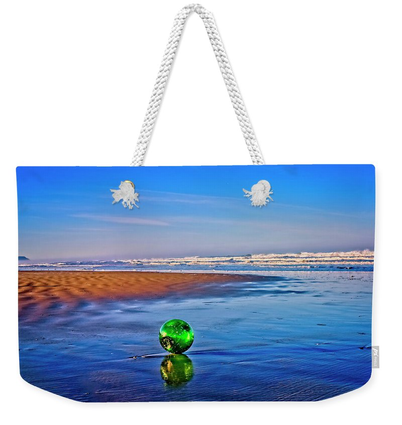 Waldport Weekender Tote Bag featuring the photograph Waldport Oregon - Float The Ocean by Image Takers Photography LLC - Laura Morgan