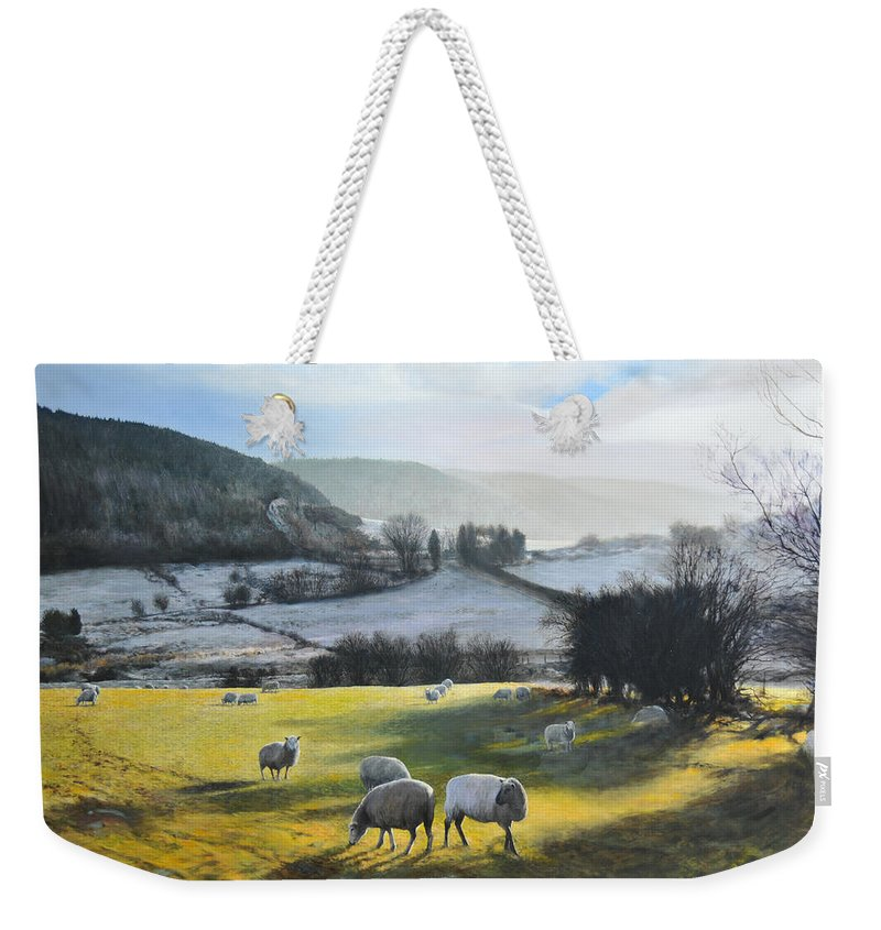 Wales Weekender Tote Bag featuring the painting Wales. by Harry Robertson