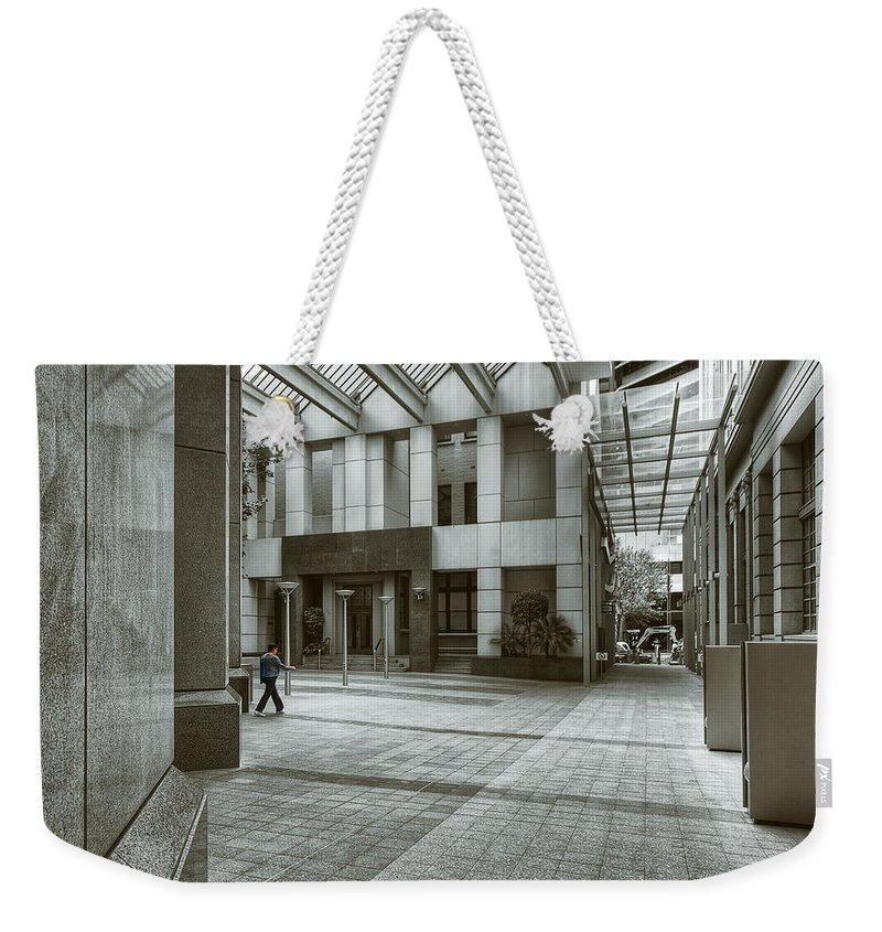 Architecture Weekender Tote Bag featuring the photograph Walk The Walk by Wayne Sherriff