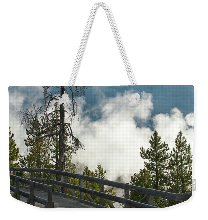 Yellowstone National Park Weekender Tote Bag featuring the photograph Walking Into The Unknown by Sandra Bronstein