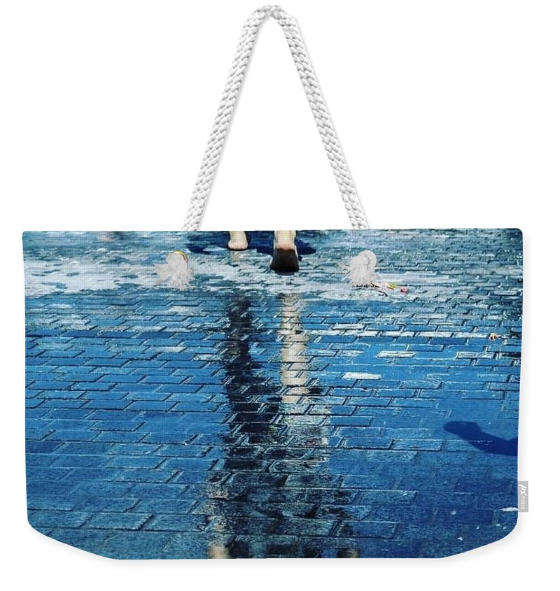 Man Weekender Tote Bag featuring the photograph Walking On The Water by Nerea Berdonces Albareda