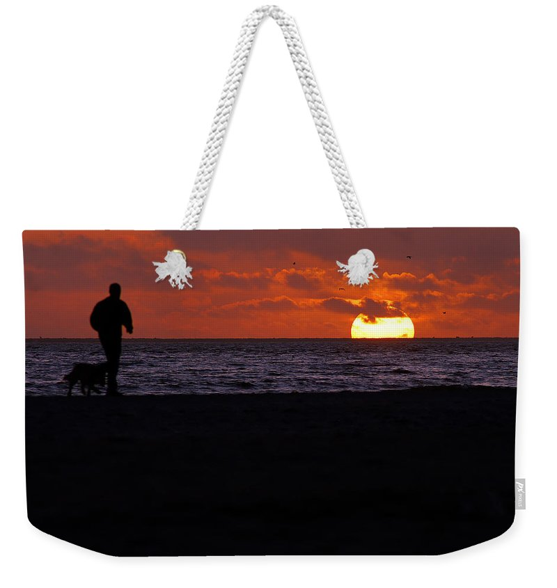 Clay Weekender Tote Bag featuring the photograph Walking The Dog by Clayton Bruster