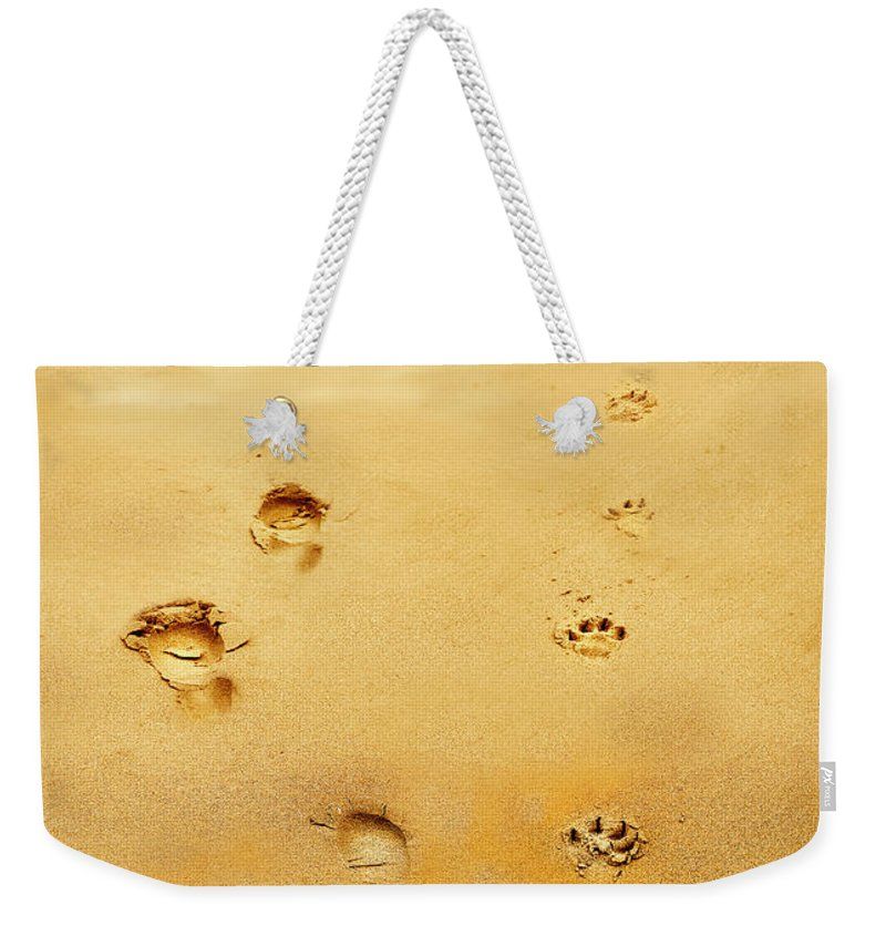 Walking The Dog Weekender Tote Bag featuring the photograph Walking The Dog by Mal Bray