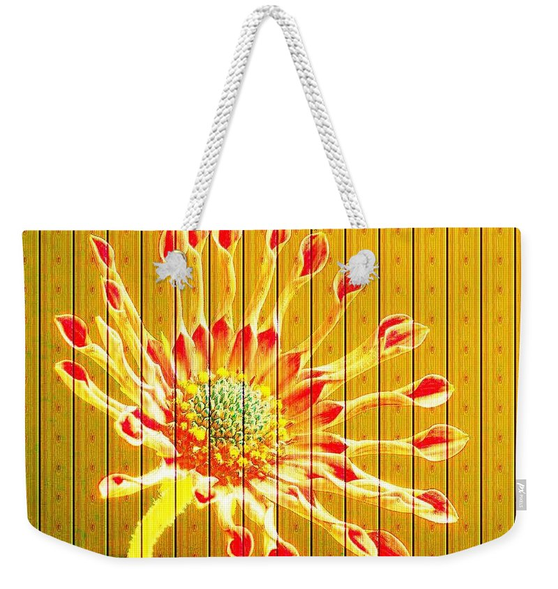 Flower Weekender Tote Bag featuring the photograph Wall Flower by Tim Allen