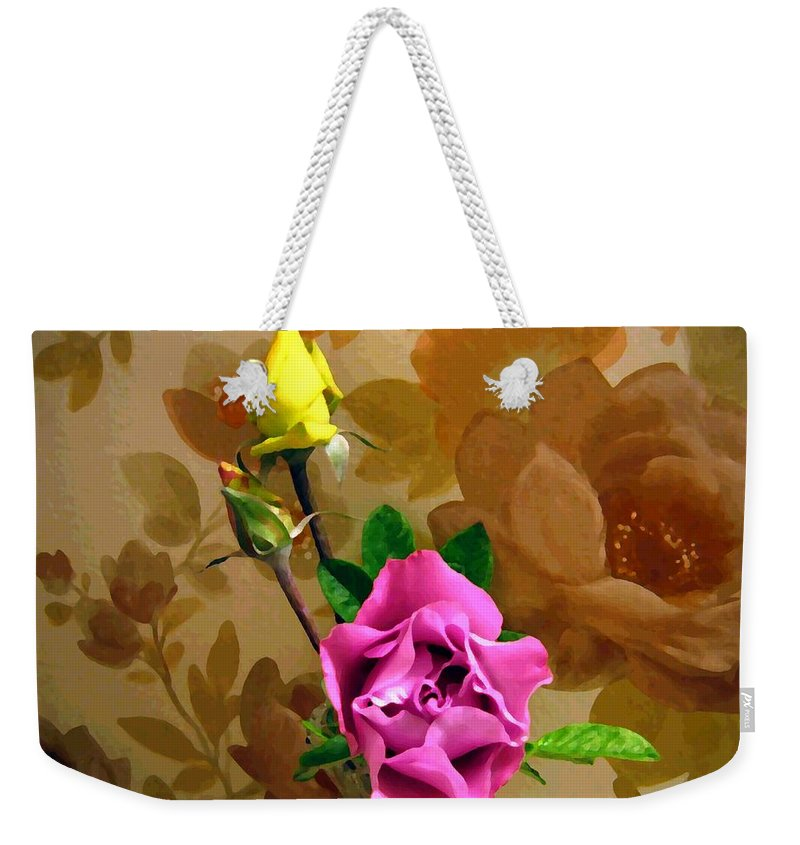 Roses Weekender Tote Bag featuring the photograph Wall Flowers by Will Borden