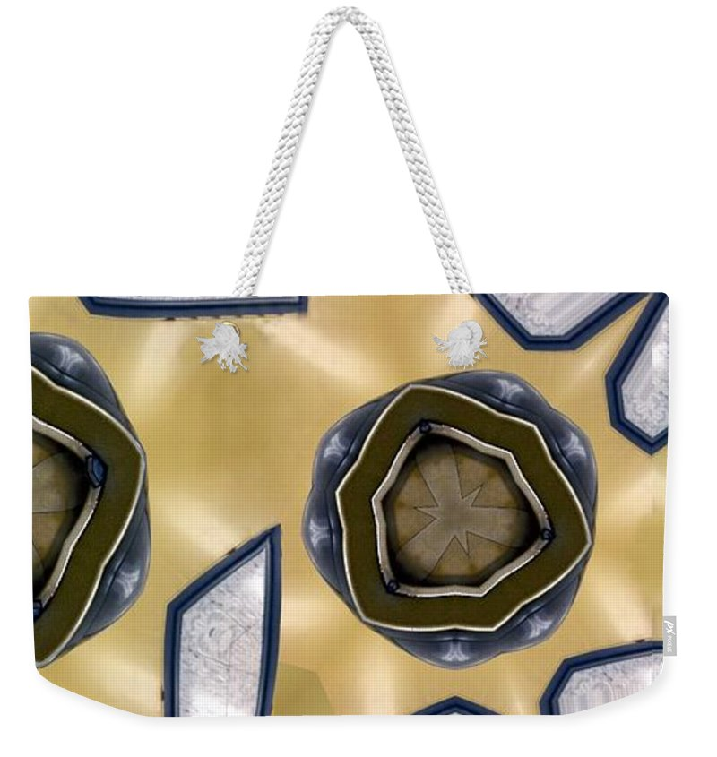 Abstract Weekender Tote Bag featuring the digital art Wall Piece by Ron Bissett