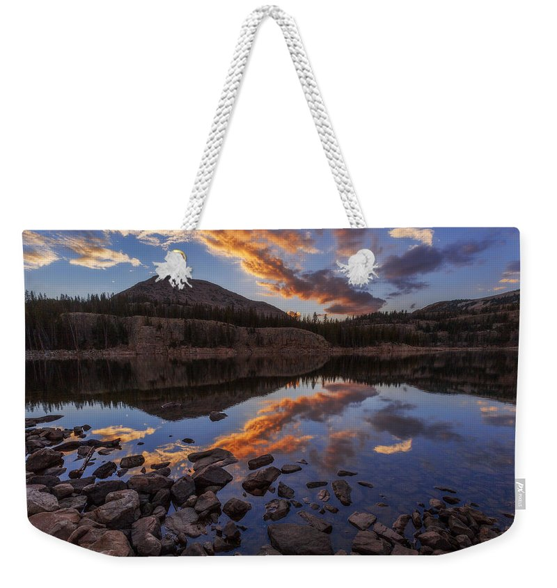 Wall Reflection Weekender Tote Bag featuring the photograph Wall Reflection by Chad Dutson