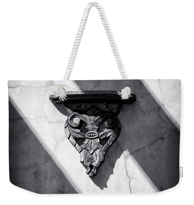 Architecture Weekender Tote Bag featuring the photograph Wall Sconce by Scott Wyatt