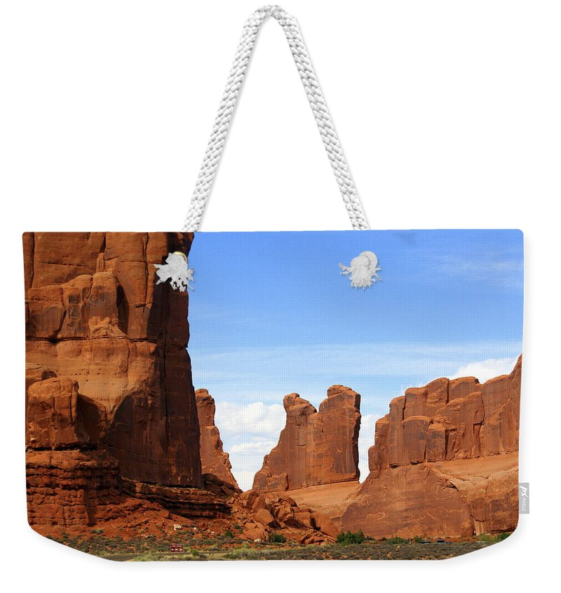 Southwest Art Weekender Tote Bag featuring the photograph Wall Street by Marty Koch