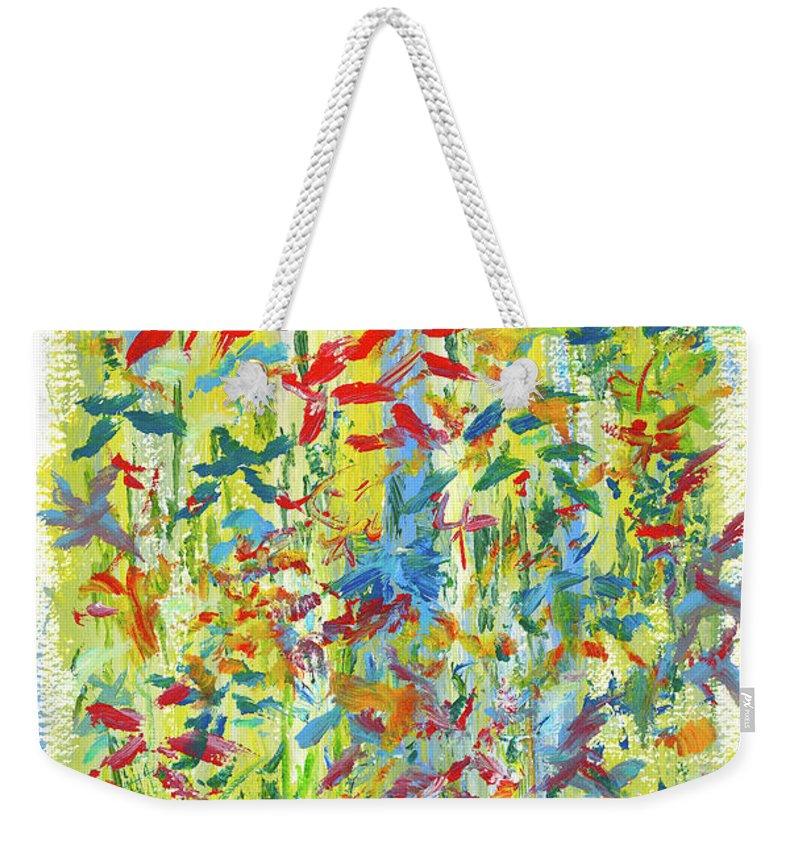 Flowers Weekender Tote Bag featuring the painting Wallflowers by Bjorn Sjogren