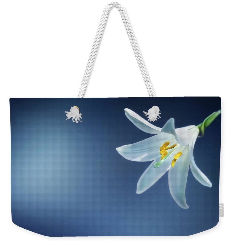 Clock Weekender Tote Bag featuring the photograph Wallpaper by Bess Hamiti