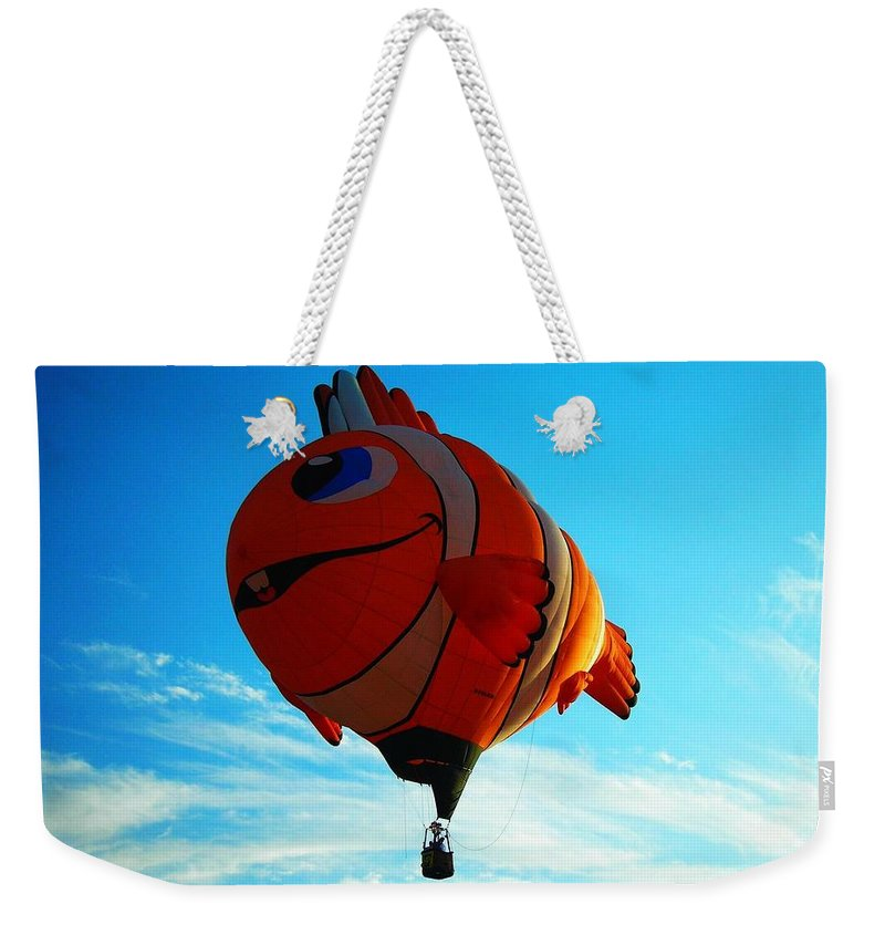 Hot Weekender Tote Bag featuring the photograph Wally The Clownfish by Juergen Weiss