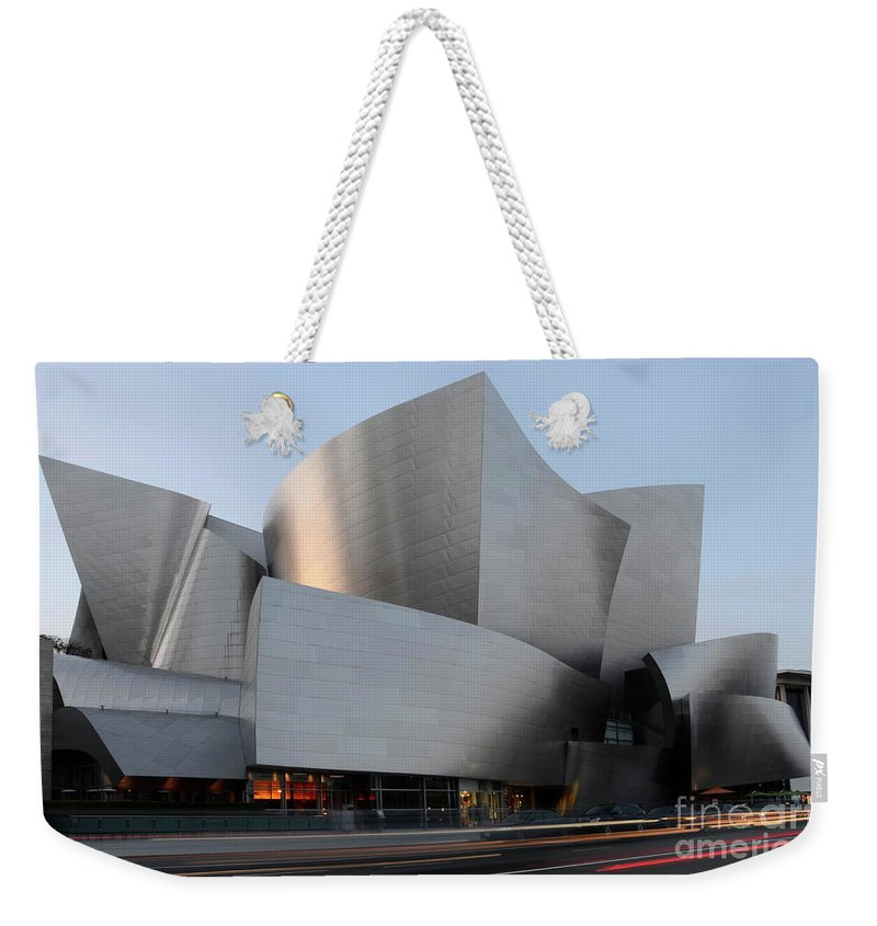 Disney Weekender Tote Bag featuring the photograph Walt Disney Concert Hall 17 by Bob Christopher