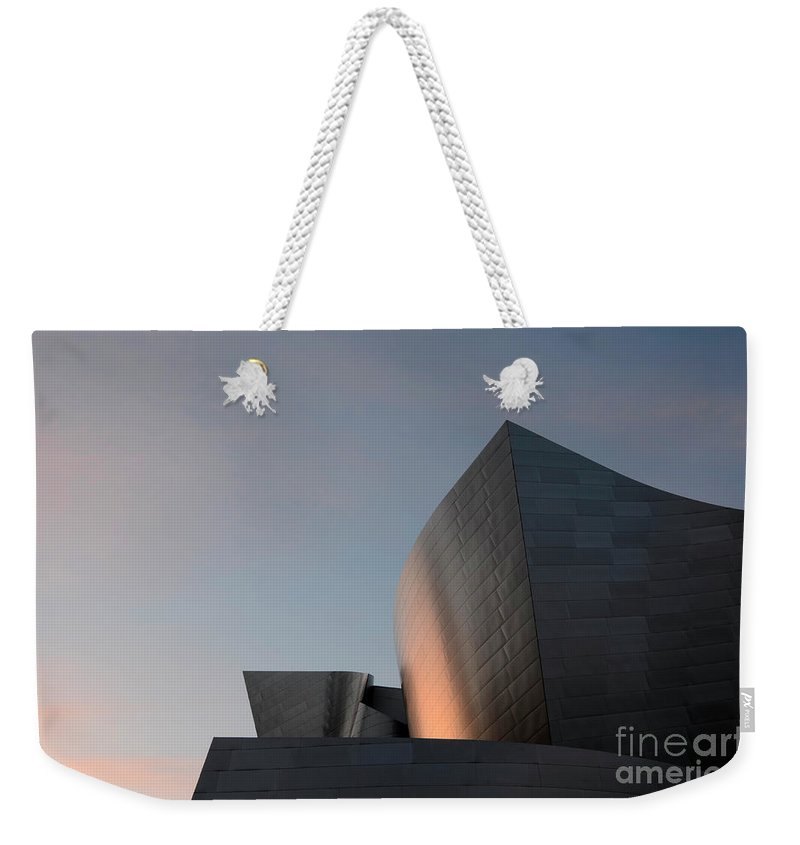 Disney Weekender Tote Bag featuring the photograph Walt Disney Concert Hall 18 by Bob Christopher