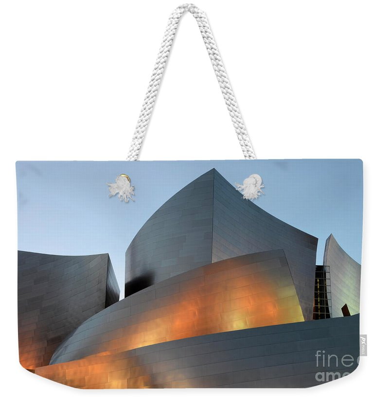 Disney Weekender Tote Bag featuring the photograph Walt Disney Concert Hall 19 by Bob Christopher