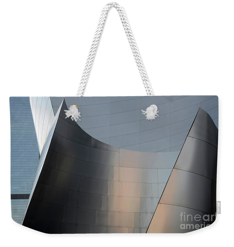 Disney Weekender Tote Bag featuring the photograph Walt Disney Concert Hall 23 by Bob Christopher
