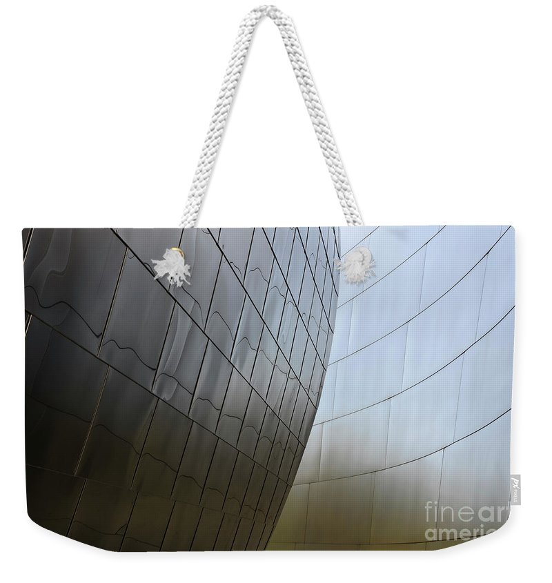 Disney Weekender Tote Bag featuring the photograph Walt Disney Concert Hall 4 by Bob Christopher