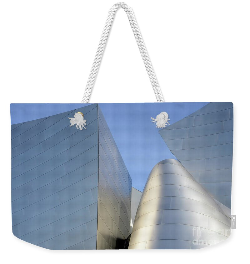 Disney Weekender Tote Bag featuring the photograph Walt Disney Concert Hall 7 by Bob Christopher