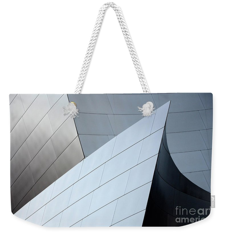 Disney Weekender Tote Bag featuring the photograph Walt Disney Concert Hall 9 by Bob Christopher