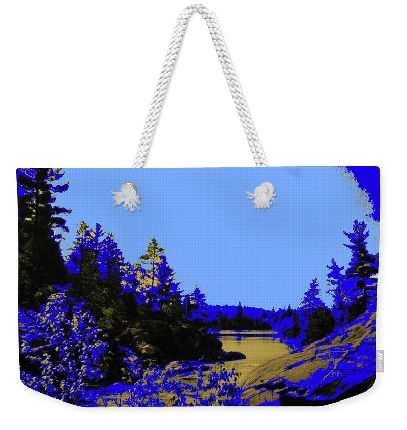 Northern Weekender Tote Bag featuring the photograph Wanapitae River Morning by Ian MacDonald