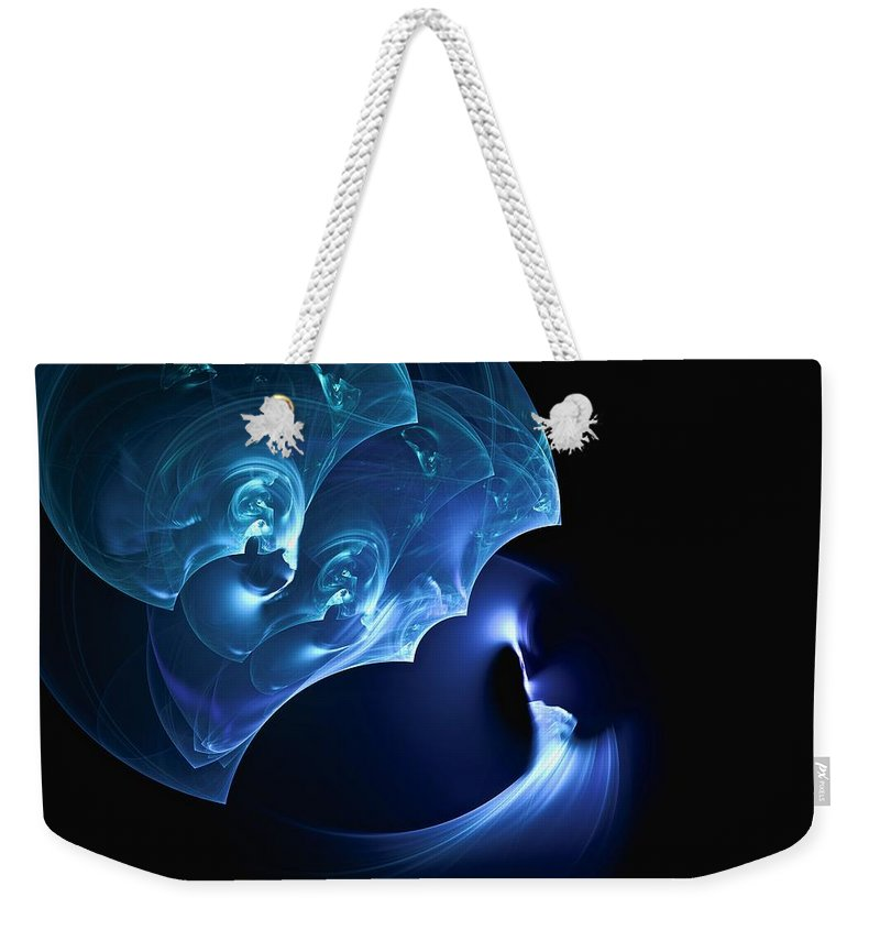 Abstract Weekender Tote Bag featuring the digital art Wand At The Ready by Burtram Anton