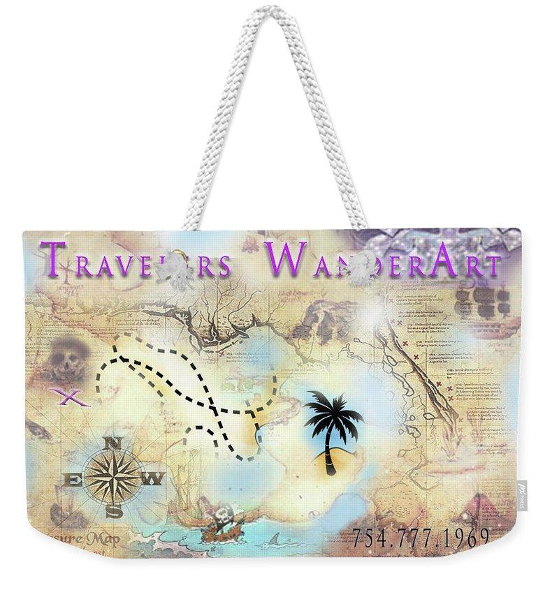 Weekender Tote Bag featuring the digital art Wanderart by Subbora Jackson