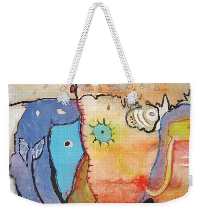 Abstract Paintings Weekender Tote Bag featuring the painting Wandering In Thought by Seon-Jeong Kim