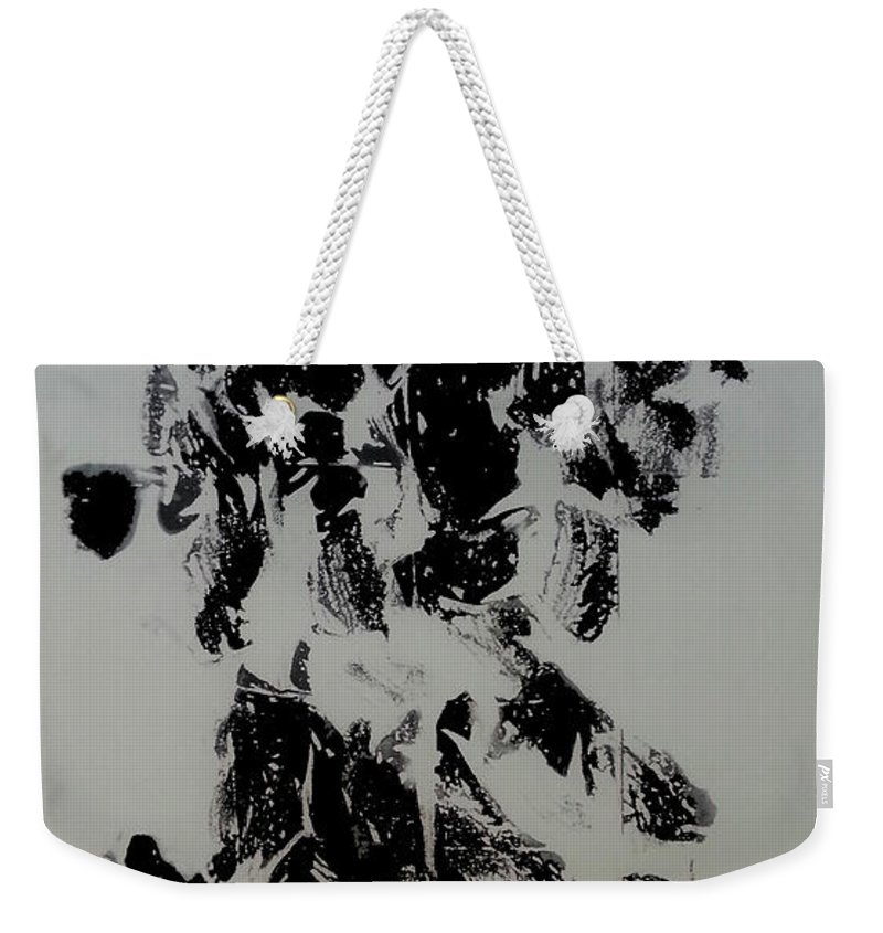 Art Weekender Tote Bag featuring the mixed media War 4 by Nour Refaat