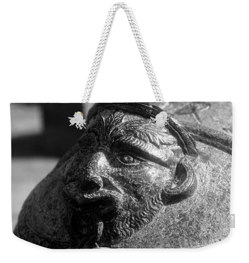 Cannon Weekender Tote Bag featuring the photograph War Face by David Lee Thompson
