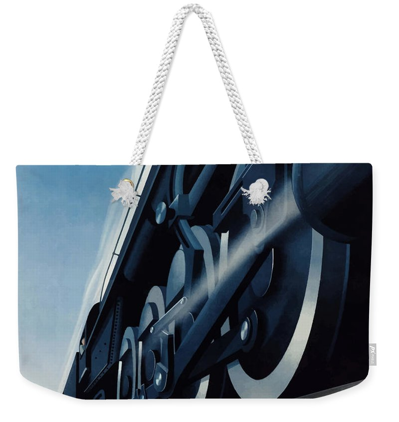 Trains Weekender Tote Bag featuring the painting War Traffic Must Come First by War Is Hell Store