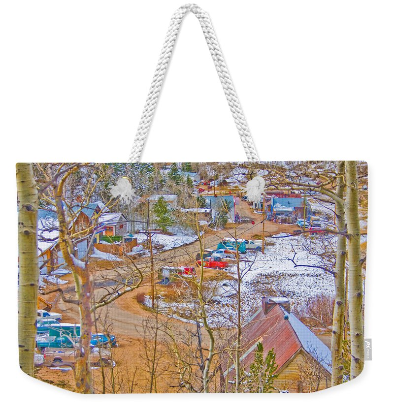Ward Weekender Tote Bag featuring the photograph Ward Boulder County Colorado by James BO Insogna