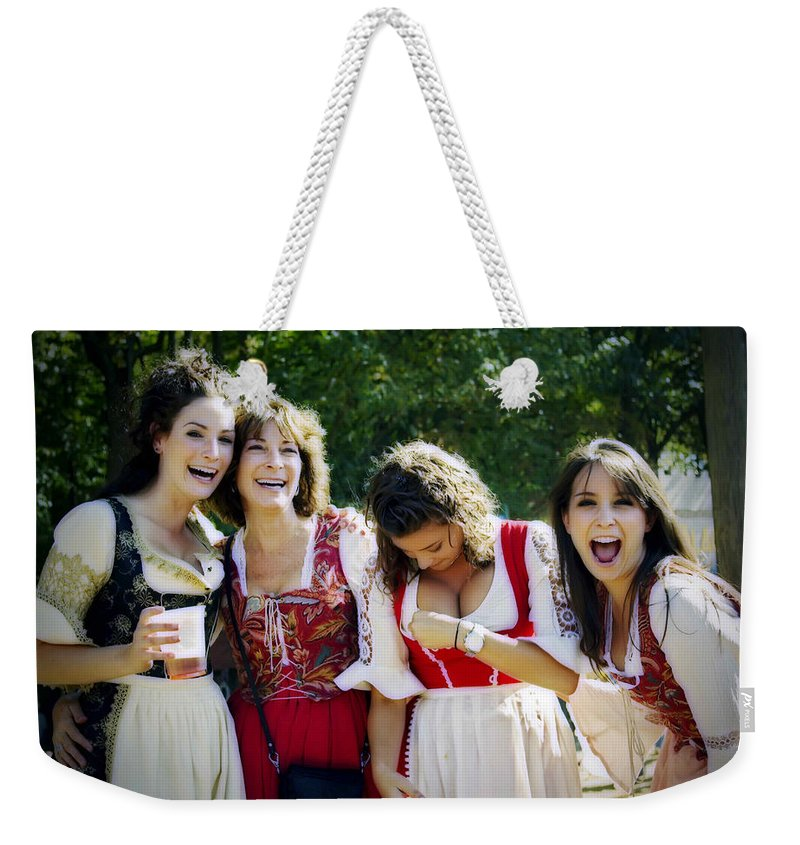 2d Weekender Tote Bag featuring the photograph Wardrobe Malfunction by Brian Wallace