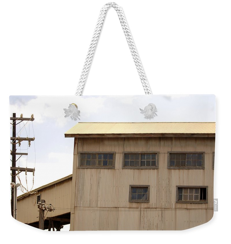 Urban Weekender Tote Bag featuring the photograph Warehouse Hawaii by Jill Reger